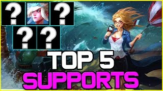 TOP 5 BEST SUPPORTS - Patch 6.20 | League of Legends