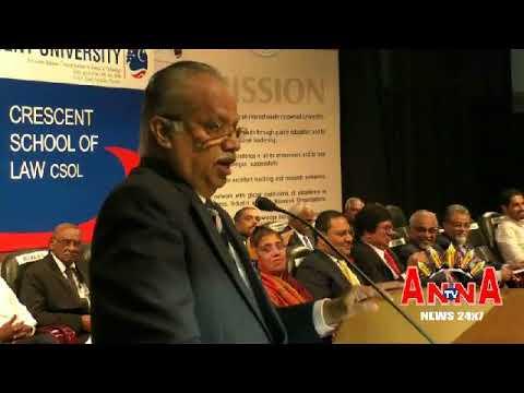 B S Abdurrahman Cresent School Of Law inaguration catalist pr Anna Tv 02