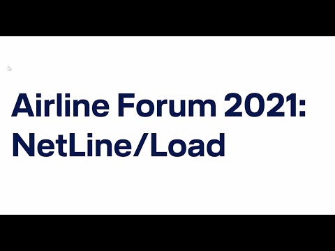 Airline Forum 2021 virtual - Jörg Sacher on NetLine/Load / Lufthansa Systems