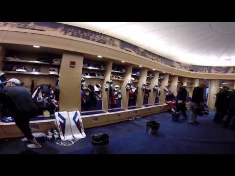 New York Rangers locker room