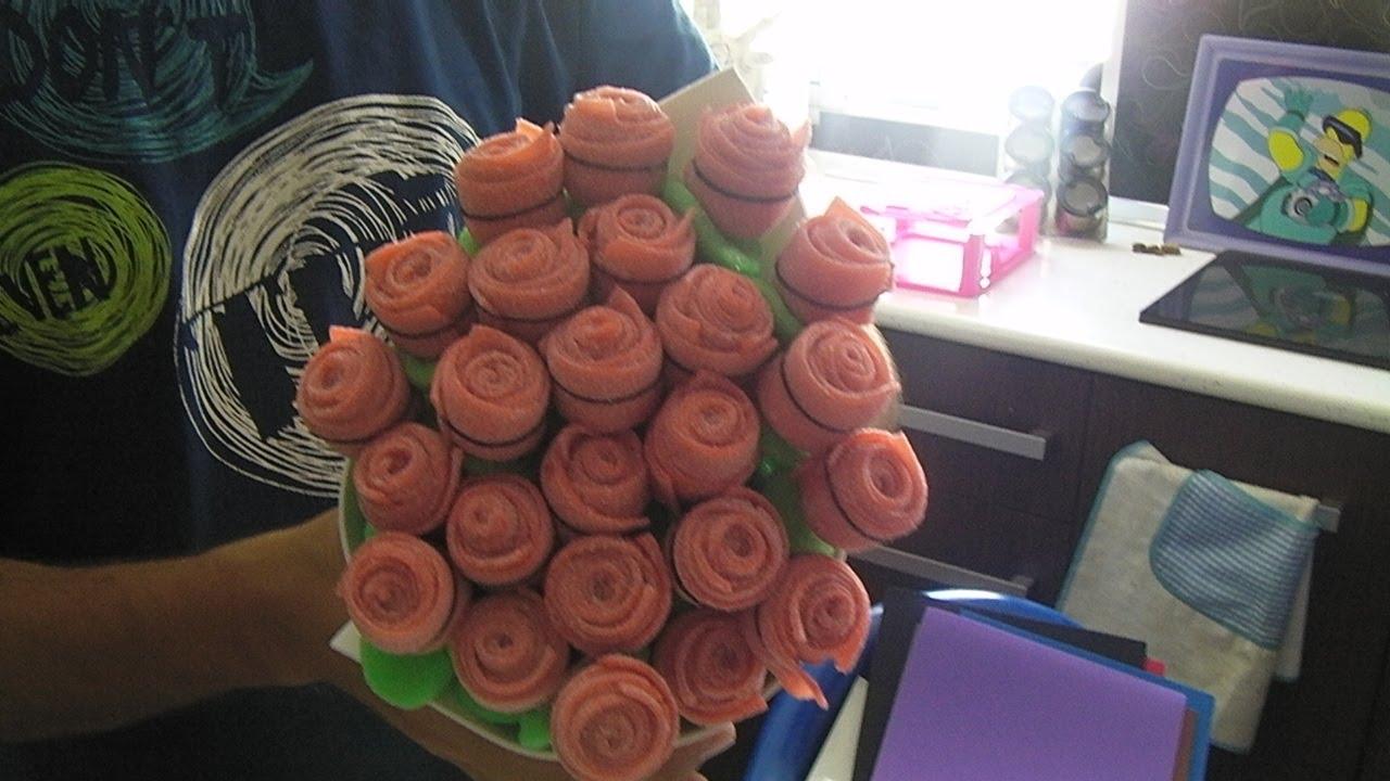 Ramo de rosas tarta de chuches gominolas branch of - Macetas originales para plantas ...