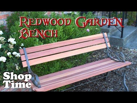 Redwood Garden Bench: 11 Years On My List!