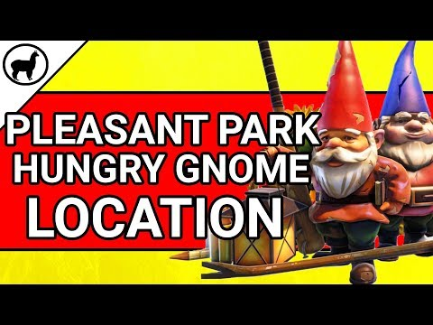 Pleasant Park Hungry Gnome Location | Fortnite Battle Royale | Season 4 Week 8 Search Hungry Gnomes