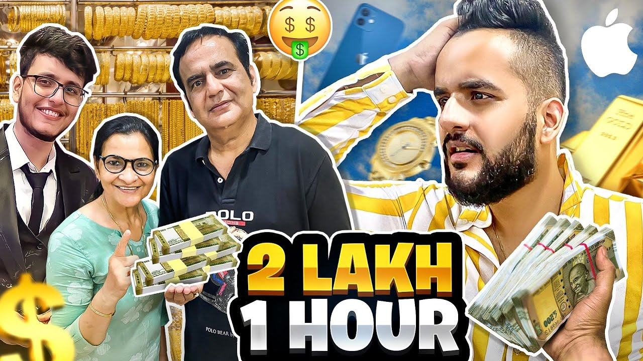 My FAMILY gave me Rs 2,00,000 to Spend in 1 HOUR Challenge !!