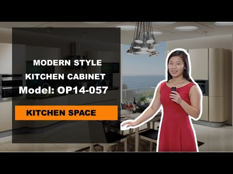 Acrylic Kitchen Cabinets in Beige White from OPPEIN  YouTube