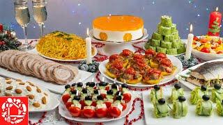 Меню на Новый год 2021 Готовлю 10 блюд на ПРАЗДНИЧНЫЙ СТОЛ торт салаты закуски мясо