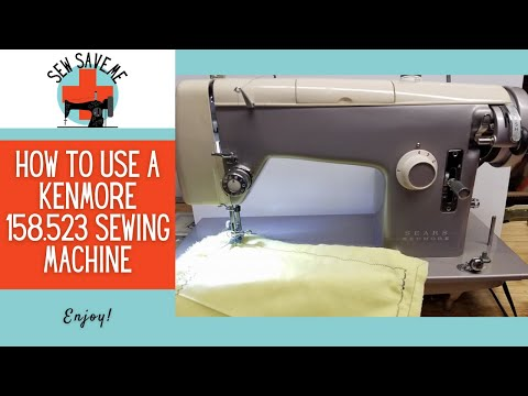 SOLD Kenmore 4040 Pretty Lavender Cream YouTube Extraordinary Kenmore Sewing Machine Accessories