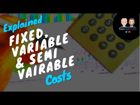 Cost Behaviour - An Introduction To Fixed, Variable And Semi-Variable Costs