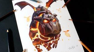 Como dibujo al Sabueso de Lava de Clash Royale y Clash of Clans | How to draw Lava Hound