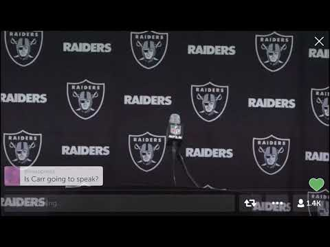 Raiders Coach Jack Del Rio Leaves PostGame Interview After Loss Against Cowboys
