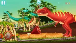 Dinazor Adasında Eğlenceli Tren Yarışı Oyunu -  Fun Train Racing - Tniy Lab Games - Bıcır Funy Games
