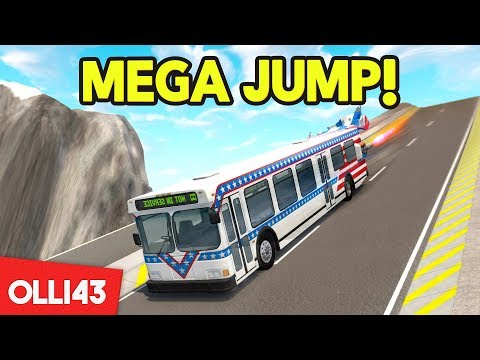 JET BOOST BUS vs THE MEGA RAMP (BeamNG Drive)
