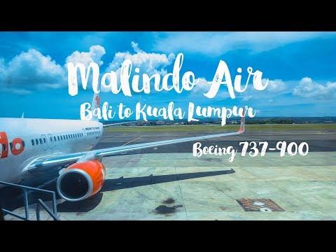 Malindo Air | Flight from Bali to Kuala Lumpur | Boeing 737 900