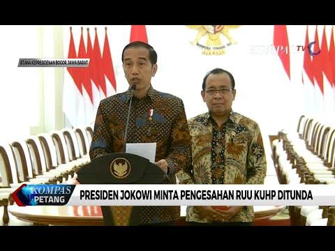Presiden Jokowi Minta Pegesahan RUU KUHP Ditunda