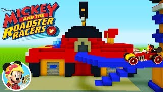 """Minecraft Tutorial: How To Make Mickey And The Roadster Racers Garage """"Mickey Mouse"""""""