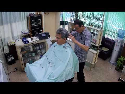 Japanese ASMR Barber Visit. - Fixed Angle.