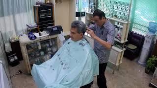 japanese asmr barber visit   fixed angle
