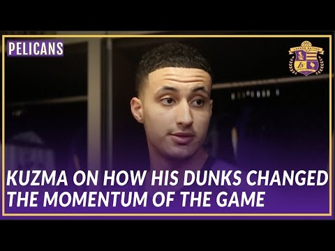 Lakers Post Game: Kyle Kuzma On How His Dunks Changed The Momentum of the Game