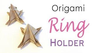 DIY Origami Paper Ring Holder✨💍 Jewelry Organizer - Origami Kawaii〔#172〕