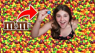 First To Find the M&M in Skittles Pool Wins $10,000 Challenge **IMPOSSIBLE**🌈 | Piper Rockelle