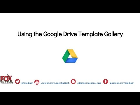 Using the Google Drive Template Gallery - YouTube