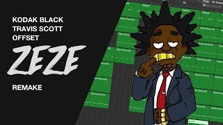 Making a Beat: Kodak Black - ZEZE feat. Travis Scott & Offset (IAMM Remake)