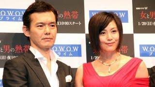 女優の藤原紀香さんが1月10日、東京都内で行われたWOWOWの連続ドラマ「...