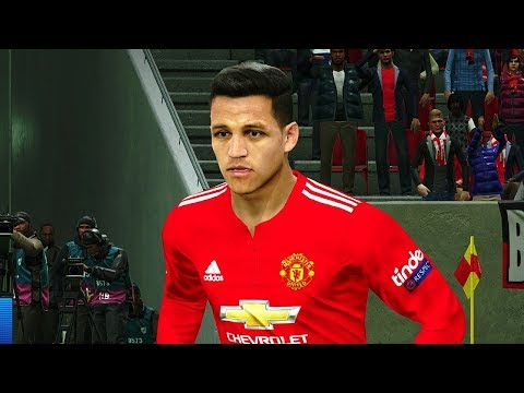 Manchester United vs Real Madrid (A.Sanchez Scored 2 Goals) UCL 2018 Gameplay