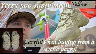 Yeezy 500 super moon yellow UA vs 1:1 vs fake vs real review. Pink yellow ? Legit check.