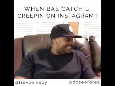 Doseofdrea Creepin On Instagram Comedy Skit With Bet's Trev Houston