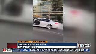 A wild case of road rage was caught on camera in los angeles, california.