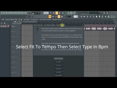 HOW TO MATCH OR FIT A SONG BPM IN FL STUDIO 20