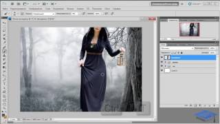 Создаём коллаж с лесной колдуньей в Photoshop #1