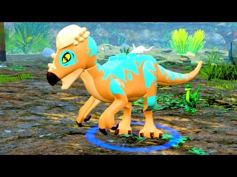 LEGO Jurassic World Pachycephalosaurus Free Roam Gameplay & Ability Showcase