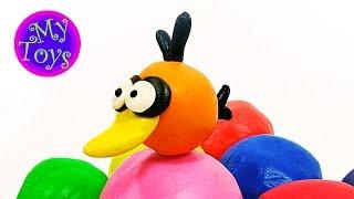 Лепим фигурки из пластилина - Angry Birds Bubbles. Как лепить из пластилина оранжевую птичку Bubbles(Лепим фигурки из пластилина - Angry Birds Bubbles. Как лепить из пластилина оранжевую птичку Bubbles. Одно из самых лучши..., 2016-02-10T09:55:52.000Z)