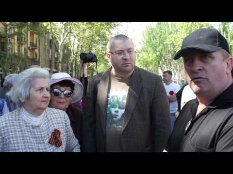 ПН TV: Перепалка 9 мая в Николаеве из-за георгиевской ленточки. ч.1
