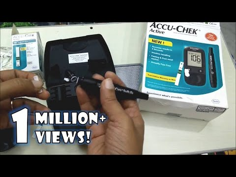 How to use Accu Chek Active Blood Glucose Monitoring system | Accu Check Demo by Happy Pumpkins