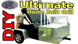 ★diy Extreme Ultimate Monster Bbq Tailgate Party Wagon Trailer, Home Made Propane Fired Hotrod Grill
