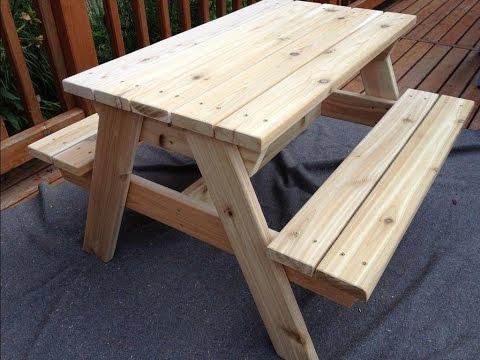 Ролик Как сделать стол для пикника