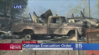 Calistoga Residents Scramble To Leave After Evacuation Ordered