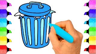 How to draw DUSTBIN for kids | #Drawing Extra