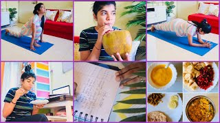 Vlog 87 : Full Day Morning to Night Healthy Routine | Following Healthy Diet Meal with Homemade Food