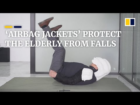 Chinese company designs 'airbag jackets' to protect the elderly from falls