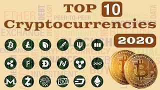 TOP 10 Cryptocurrencies by Market Cap [2013 - 2020]