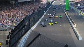 IndyCar Series 2018. Indy 500. Start & 1st Lap