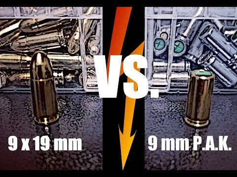 FAQ // Knallpatrone Vs. Scharfe Patrone (9mm P.A.K. Vs. 9x19mm)