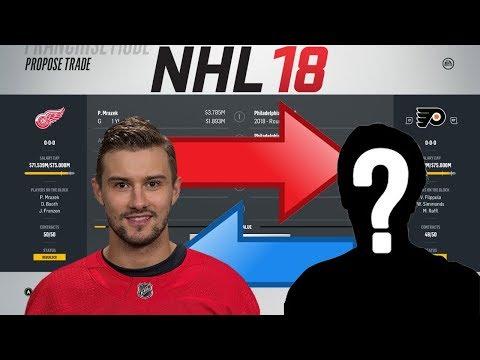 NHL 18 - MRAZEK TO PHILADELPHIA TRADE SIMULATION