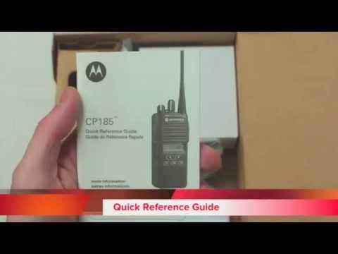 Motorola CP185 Information - YouTube