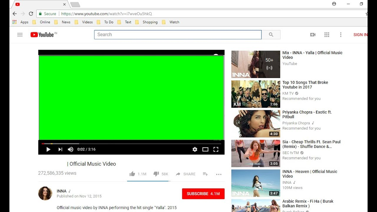 Fix Online Video Not Playing/Green Screen Issue in Windows