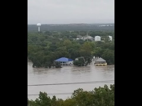 Horrific Flooding in Lake Marble Falls, Texas (Oct 16 2018)